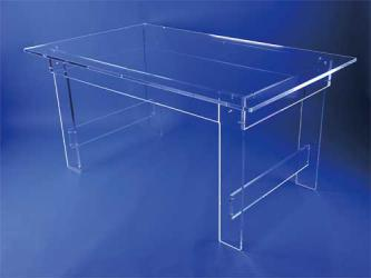 Grande table transparente