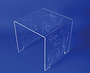 Table pont plexiglas enfant