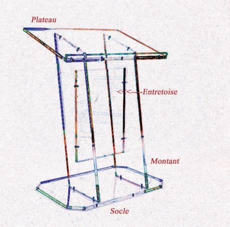 pupitre prestige plexiglass